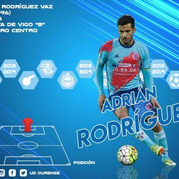 Adrián Rodríguez, quinta incorporación da UD Ourense