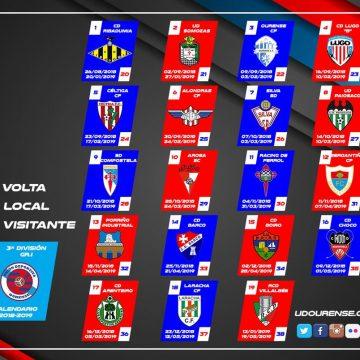 A UD Ourense debutará na terceira galega como visitante